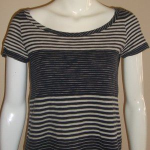 Marc  By Marc Jacobs  Striped Scoop Neck Short Sle